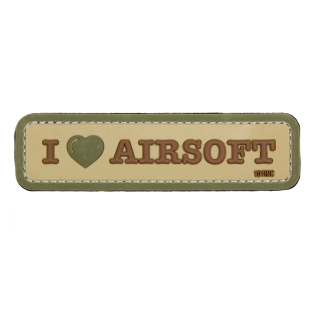 101 INC I Love Airsoft 3D PVC Patch Coyote