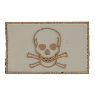 101 INC Skull & Bones PVC Patch Tan
