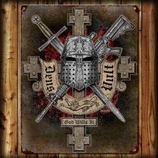 7,62 табличка настенная Deus Vult 29x37