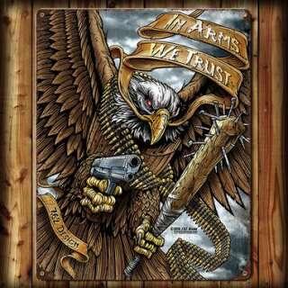 7,62 табличка настенная In Arms We Trust 29x37