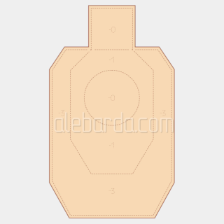 Алебарда мішень IDPA (5 шт)