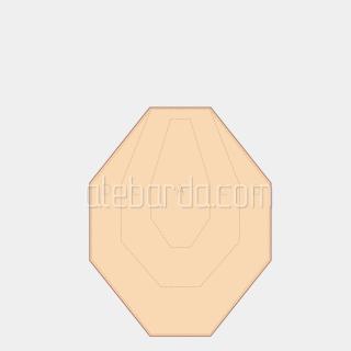 Алебарда мішень IPSC міні (класична) (5 шт)