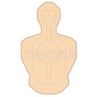 Алебарда мішень картонна силует №1 (5 шт)