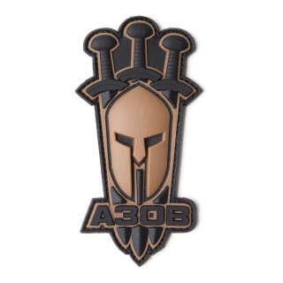 Arey нашивка Азов (Спартанский шлем) койот