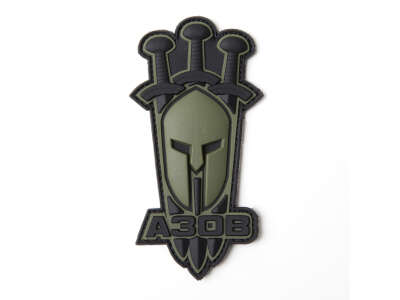 Arey нашивка Азов (Спартанский шлем) олива