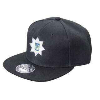 Бейсболка Полиция (Snap Back), Combat Black, P1G®
