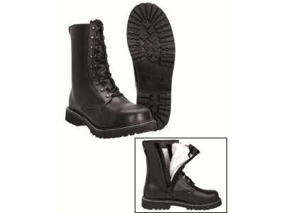 Ботинки зимние Miltec на искуственном меху, на молнии (black, черные) – 12814000, Mil-Tec Sturm