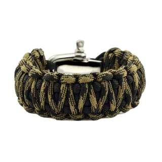 Браслет Подвійна кобра на регульованою застібці з нержавіючої сталі, Black and black forest, Aramitex®