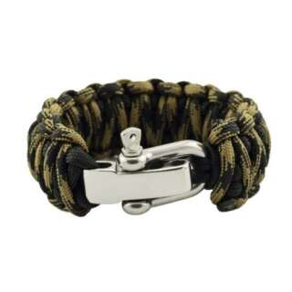 Браслет Подвійна кобра на регульованою застібці з нержавіючої сталі, Black and black forest, Aramitex