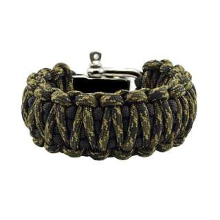 Браслет Подвійна кобра на регульованою застібці з нержавіючої сталі, Black and veteran, Aramitex®