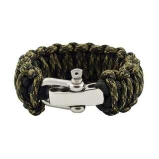 Браслет Подвійна кобра на регульованою застібці з нержавіючої сталі, Black and veteran, Aramitex