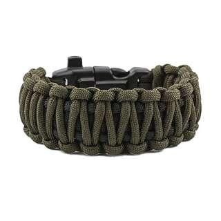 Браслет Подвійна кобра Survival, black and army green, Aramitex®