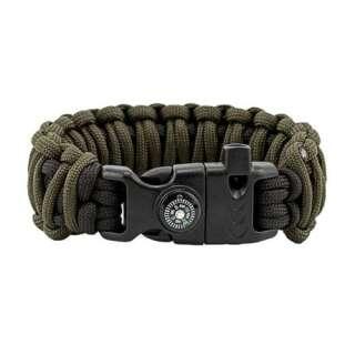 Браслет Подвійна кобра Survival, black and army green, Aramitex
