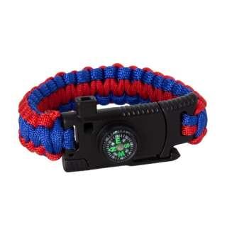 Браслет из паракорда Cobra Survival Paracord Bracelet, Red-blue, P1G®