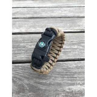 Браслет з паракорд Подвійна кобра Survival, black and coyote, [тисячі сто тридцять дев'ять] Чорний/Койот, Aramitex
