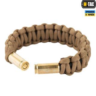 M-Tac браслет паракорд Каратель с гильзами 9мм хаки/черный