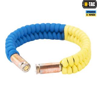 Браслет M-TAC паракорд карательс гільзами (Жовто-блакитний), M-Tac