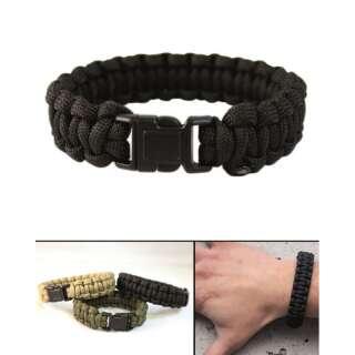 Браслет з паракорд MIL-TEC (нарукавна пов'язка) (Black), Sturm Mil-Tec®