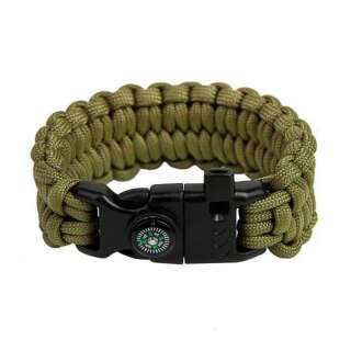 Браслет з паракорд Петлі Survival, Army green, [1126] Army green, Aramitex