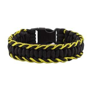 Браслет з паракорд, плетіння Кобра, з жовтим палітуркою, Aramitex®