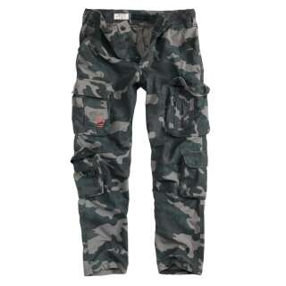 Брюки SURPLUS AIRBORNE TROUSERS SLIMMY, [1150] Black camo, Surplus Raw Vintage®