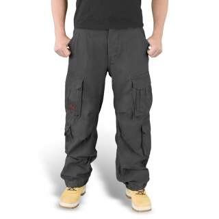 Брюки SURPLUS AIRBORNE VINTAGE TROUSERS, [1346] Washed black, Surplus Raw Vintage®