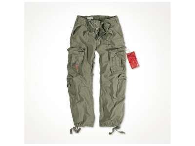 Штани SURPLUS AIRBORNE VINTAGE TROUSERS, [1349] Washed olive, Surplus