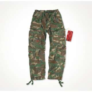 Брюки SURPLUS AIRBORNE VINTAGE TROUSERS, [1351] Washed woodland, Surplus Raw Vintage®