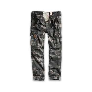 Брюки SURPLUS PREMIUM TROUSERS SLIMMY, [1150] Black camo, Surplus Raw Vintage®