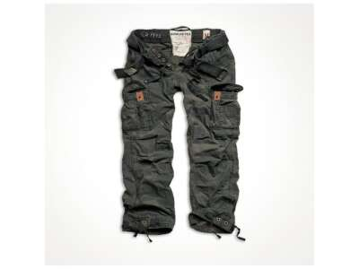 Брюки SURPLUS PREMIUM VINTAGE TROUSERS, [1345] Washed black camo, Surplus Raw Vintage®