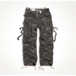 Брюки SURPLUS VINTAGE FATIGUES TROUSERS, [1345] Washed black camo, Surplus Raw Vintage®