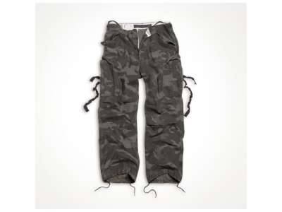 Штани SURPLUS VINTAGE FATIGUES TROUSERS, [1 345] Washed black camo, Surplus