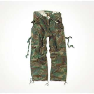 Брюки SURPLUS VINTAGE FATIGUES TROUSERS, [1351] Washed woodland, Surplus Raw Vintage®