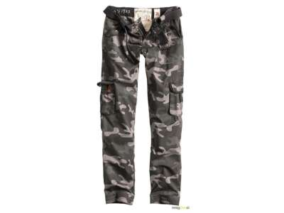 Брюки военные женские SURPLUS LADIES PREMIUM TROUSERS SLIMMY, [1150] Black camo, Surplus Raw Vintage®