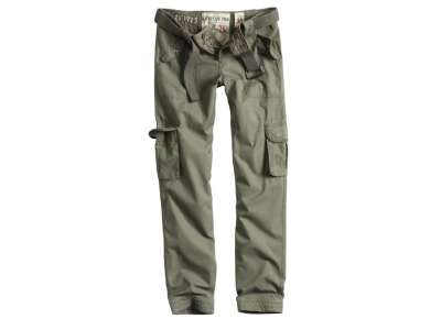 Брюки военные женские SURPLUS LADIES PREMIUM TROUSERS SLIMMY, [182] Olive, Surplus Raw Vintage®