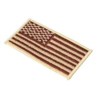 CA America Flag Patch Left Khaki