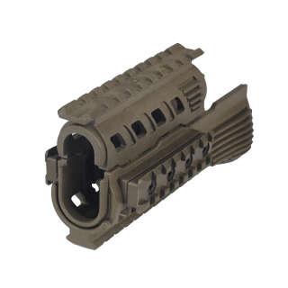 CAA Polymer Rail Hand Guard for AK Green