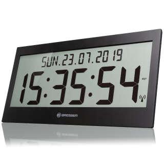 Часы настенные Bresser Jumbo LCD Black (7001802CM3000), Bresser (Germany)