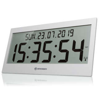 Часы настенные Bresser Jumbo LCD Grey (7001802QT5000), Bresser (Germany)