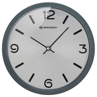 Часы настенные Bresser MyTime Silver Edition Digit Grey (8020316MSN000), Bresser (Germany)