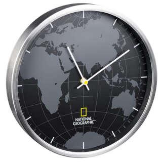 Часы настенные National Geographic World Map Aluminium (9080000), National Geographic (USA)