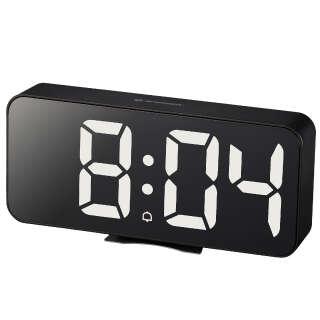Часы настольные Bresser MyTime Echo FXL Black (8010072CM3WHI), Bresser (Germany)