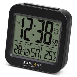 Часы настольные Explore Scientific Compact RC Alarm Black (RDC1008CM3000), Explore Scientific (USA)