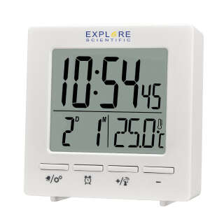 Часы настольные Explore Scientific Mini RC Alarm White (RDC1005GYELC2), Explore Scientific (USA)