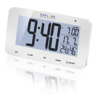 Часы настольные Explore Scientific RC Alarm White (RDC1004GYELC2), Explore Scientific (USA)