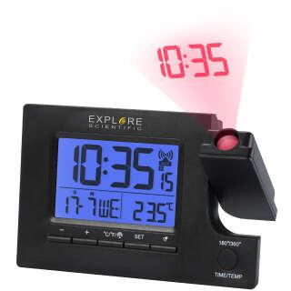 Часы проекционные Explore Scientific Slim Projection RC Dual Alarm Black (RDP1003CM3LC2), Explore Scientific (USA)