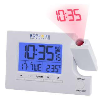 Часы проекционные Explore Scientific Slim Projection RC Dual Alarm White (RDP1003GYELC2), Explore Scientific (USA)