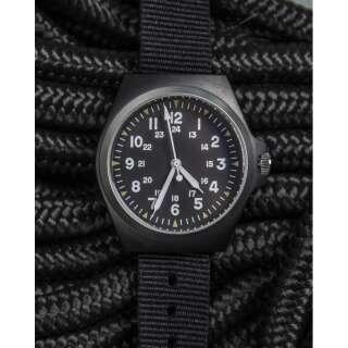 Часы военные US STYLE IP ARMY WATCH S/STEEL, [019] Black, Sturm Mil-Tec® Reenactment
