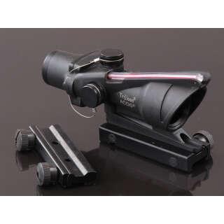 China made ACOG 4x32 Scope (with optic fiber dummy) Black