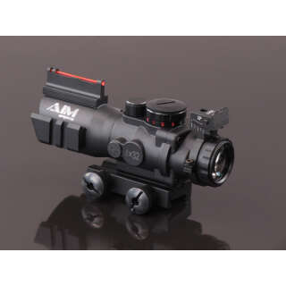 China made ACOG-style 4x32 Red/Green/Blue Scope (with sight) Black